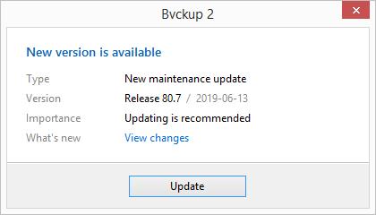 Bvckup 2 | Development notes | 13062019